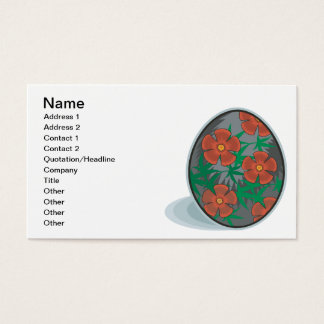 Easter Egg Business Card