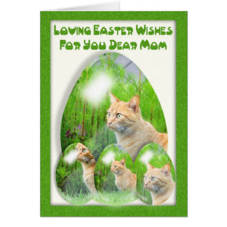 Easter Egg Card, with cats, Mom, Easter for Mom Card