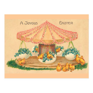 Easter Egg Carousel Vintage Easter Postcard
