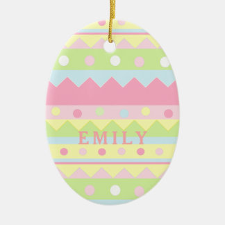Easter Egg Ceramic Ornament
