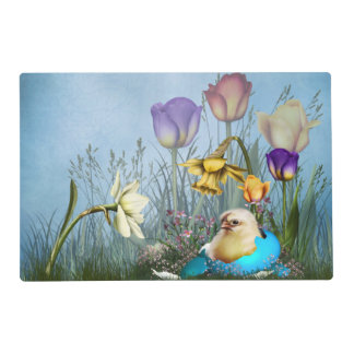 Easter Egg Chicken Laminated Placemat