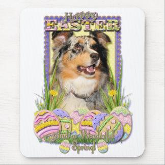 Easter Egg Cookies - Australian Shepherd Mouse Pad