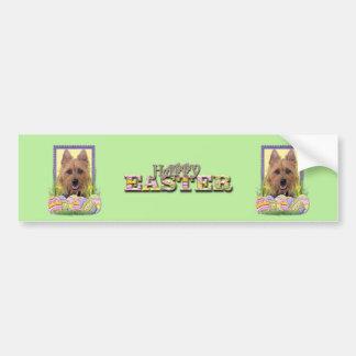 Easter Egg Cookies - Australian Terrier Bumper Sticker