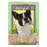 Easter Egg Cookies - Boston Terrier Greeting Card