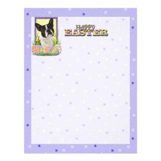 Easter Egg Cookies - Boston Terrier Letterhead Template