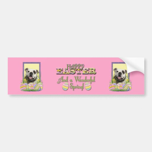Easter Egg Cookies - Bulldog Bumper Sticker