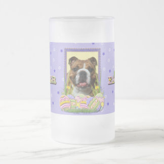 Easter Egg Cookies - Bulldog Frosted Glass Beer Mug