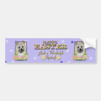 Easter Egg Cookies - Cairn Terrier Bumper Sticker