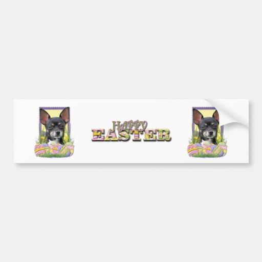 Easter Egg Cookies - Chihuahua Bumper Sticker