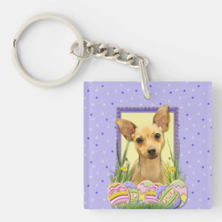 Easter Egg Cookies - Chihuahua - Daisy Double-Sided Square Acrylic Keychain