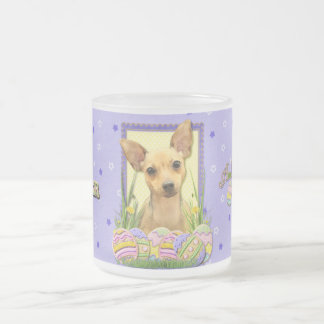 Easter Egg Cookies - Chihuahua - Daisy Frosted Glass Coffee Mug