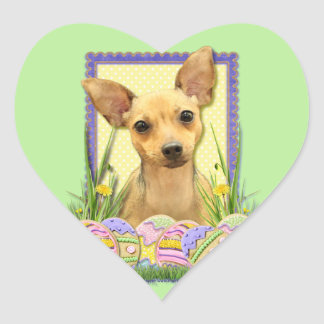 Easter Egg Cookies - Chihuahua - Daisy Heart Sticker