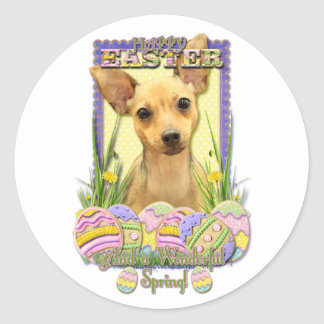 Easter Egg Cookies - Chihuahua - Daisy Round Sticker