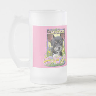 Easter Egg Cookies - Chihuahua Frosted Glass Beer Mug