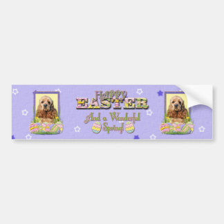 Easter Egg Cookies - Cocker Spaniel Bumper Sticker