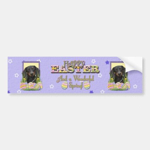 Easter Egg Cookies - Dachshund Bumper Sticker