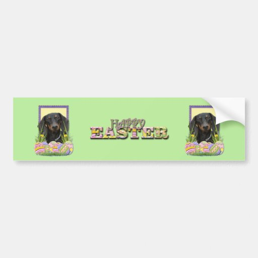 Easter Egg Cookies - Dachshund Bumper Stickers
