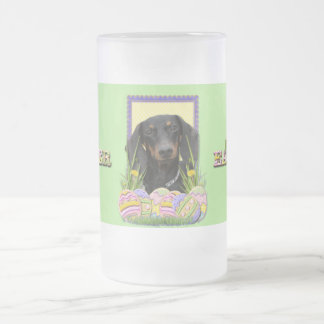 Easter Egg Cookies - Dachshund Frosted Glass Beer Mug