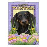 Easter Egg Cookies - Dachshund Greeting Card