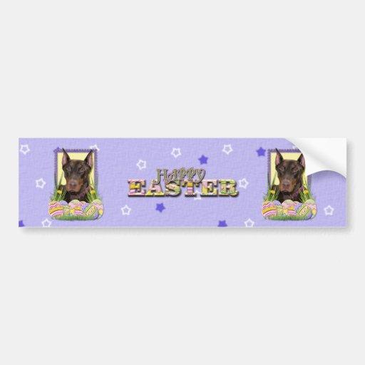 Easter Egg Cookies - Doberman Bumper Sticker