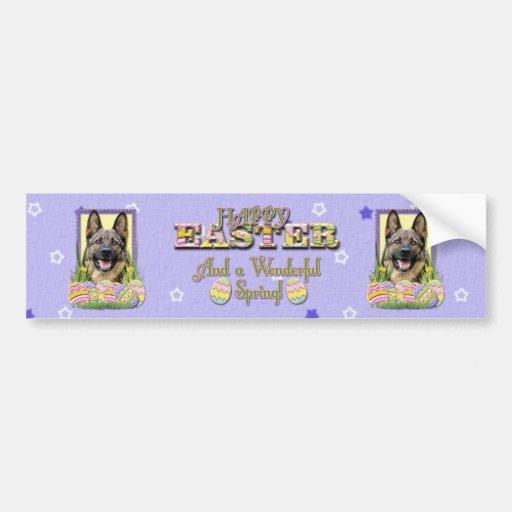 Easter Egg Cookies - German Shepherd Bumper Sticker