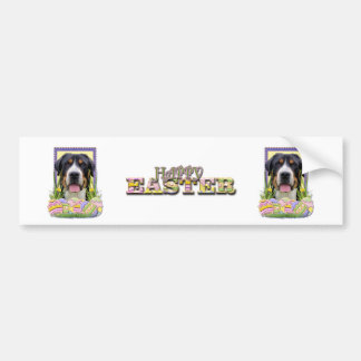Easter Egg Cookies - Greater Swiss Mountain Dog Bumper Sticker