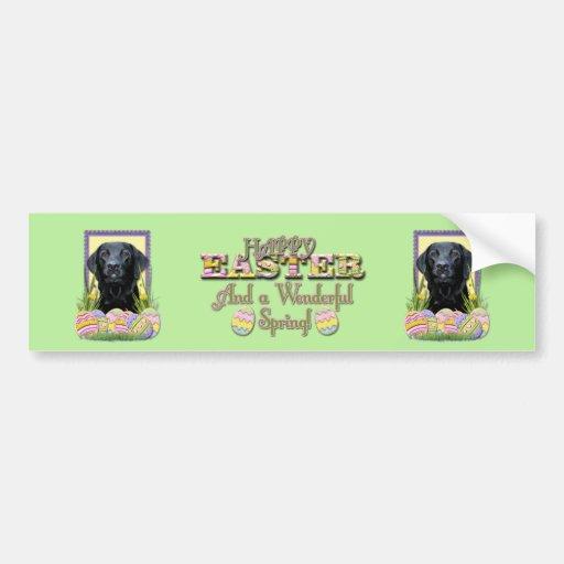 Easter Egg Cookies - Labrador - Black Bumper Stickers