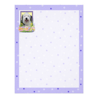 Easter Egg Cookies - Old English Sheepdog Letterhead Design