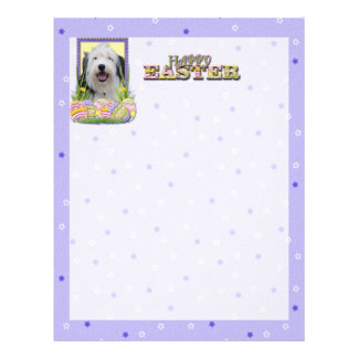 Easter Egg Cookies - Old English Sheepdog Personalized Letterhead