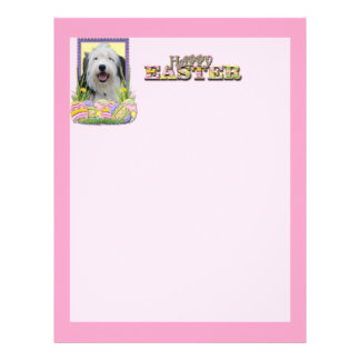 Easter Egg Cookies - Old English Sheepdog Letterhead Template