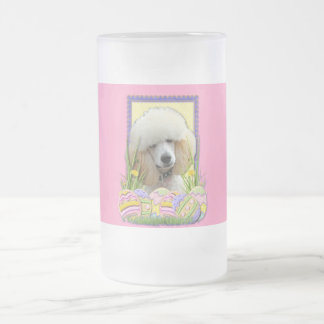 Easter Egg Cookies - Poodle - Apricot Frosted Glass Beer Mug