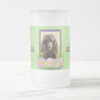 Easter Egg Cookies - Poodle - Chocolate Frosted Glass Beer Mug