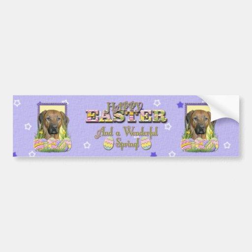 Easter Egg Cookies - Rhodesian Ridgeback Bumper Stickers
