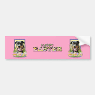 Easter Egg Cookies - Rottweiler Bumper Sticker