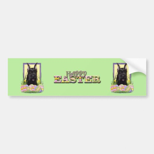 Easter Egg Cookies - Schnauzer Bumper Stickers