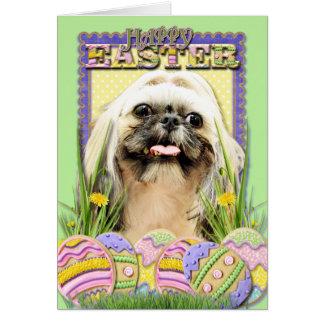 Easter Egg Cookies - Shih Tzu - Opal Card