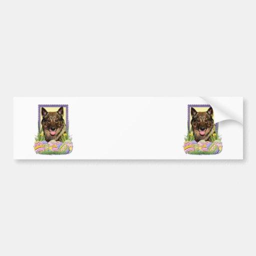 Easter Egg Cookies - Vallhund Bumper Sticker