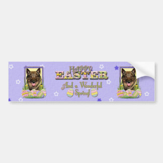 Easter Egg Cookies - Vallhund Bumper Sticker