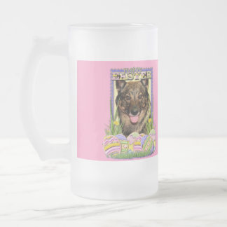 Easter Egg Cookies - Vallhund Frosted Glass Beer Mug