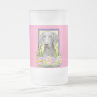 Easter Egg Cookies - Weimaraner Frosted Glass Beer Mug