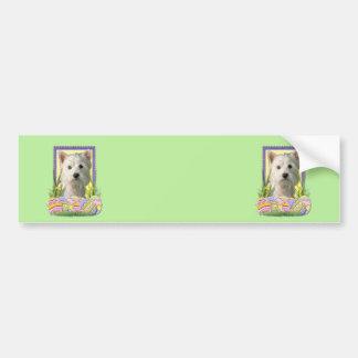 Easter Egg Cookies - West Highland Terrier Bumper Sticker