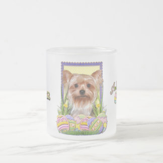 Easter Egg Cookies - Yorkshire Terrier 10 Oz Frosted Glass Coffee Mug