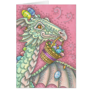 EASTER EGG DRAGON Fantasy Spring NOTE CARD Blank
