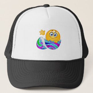 Easter egg Emoji Trucker Hat