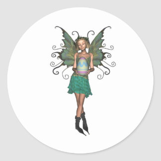 Easter Egg Fairy Classic Round Sticker