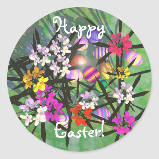 Easter Egg Garden Round Sticker