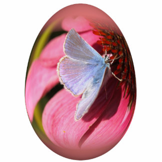 easter egg gossamer-winged butterfly photo sculpture ornament