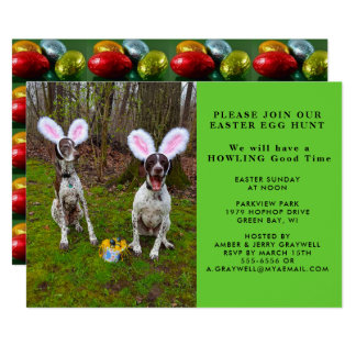 Easter Egg Hunt and Party Dogs Invitation