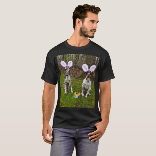 Easter Egg Hunt and Party Dogs Men's Dark T-Shirt