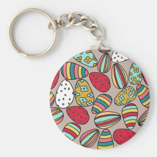 Easter Egg hunt Basic Round Button Keychain